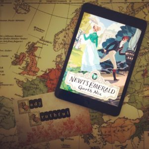#augustofpages - laid back reads   Newt's Emerald by Garth Nix