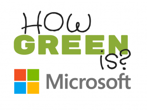How Green is Microsoft?